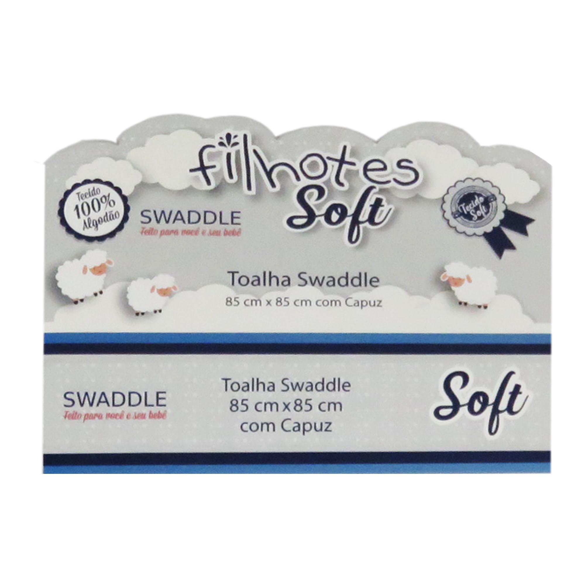 Toalha Swaddle com capuz - Minasrey - Filhotes Soft - Ovelha - Bege