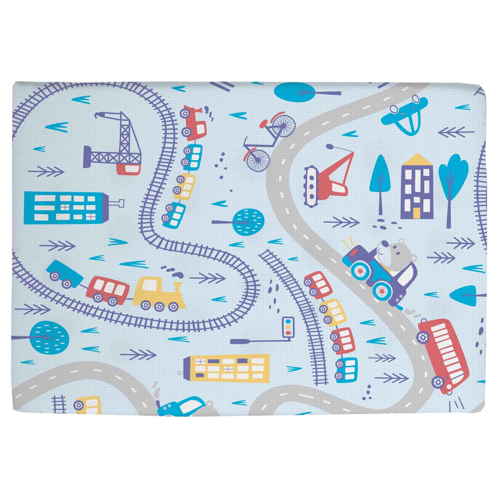 Travesseiro Antissufocante Estampado - Incomfral - Bambi - Meios de Transporte