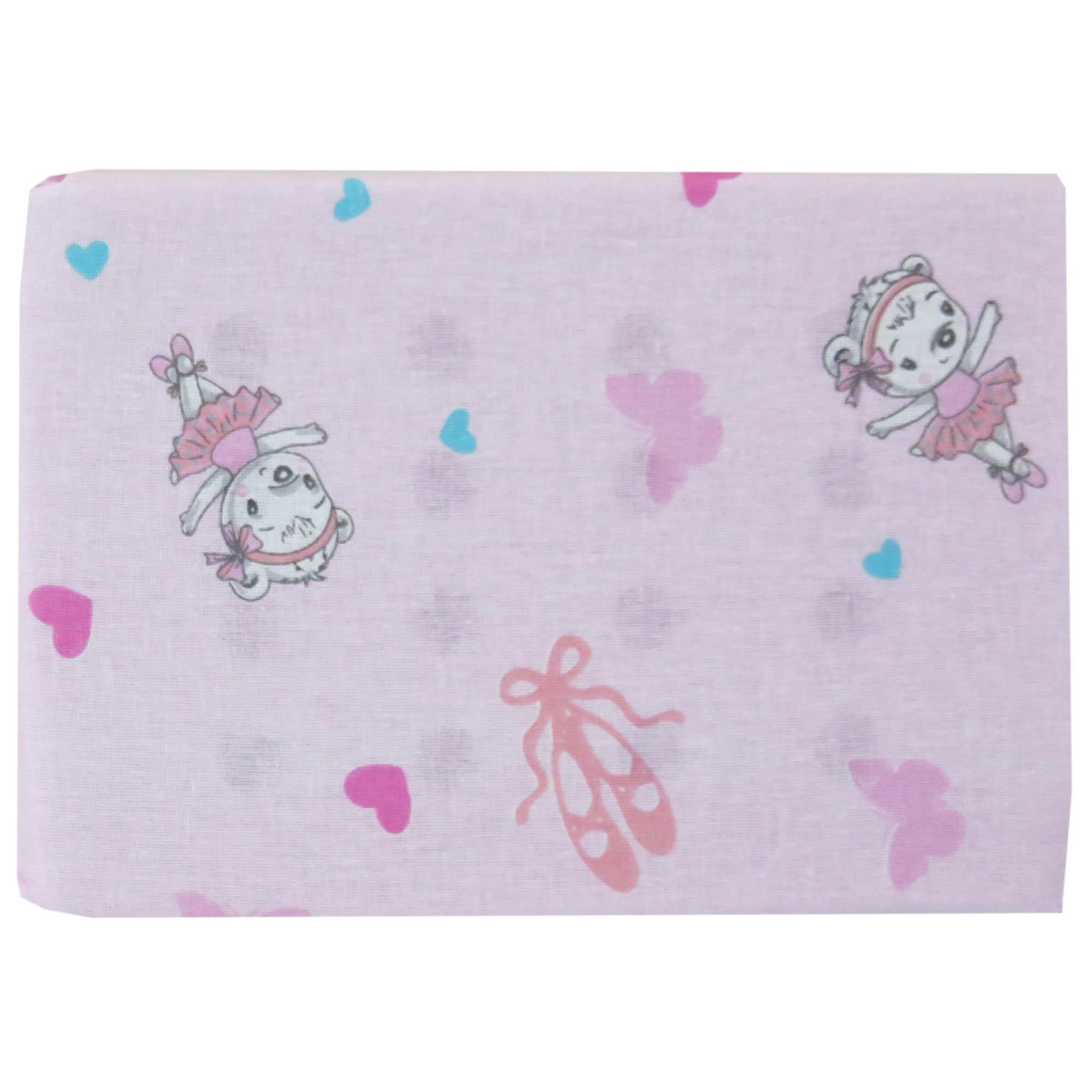 Travesseiro Antissufocante Estampado - Incomfral - Bambi - Ursa Bailarina