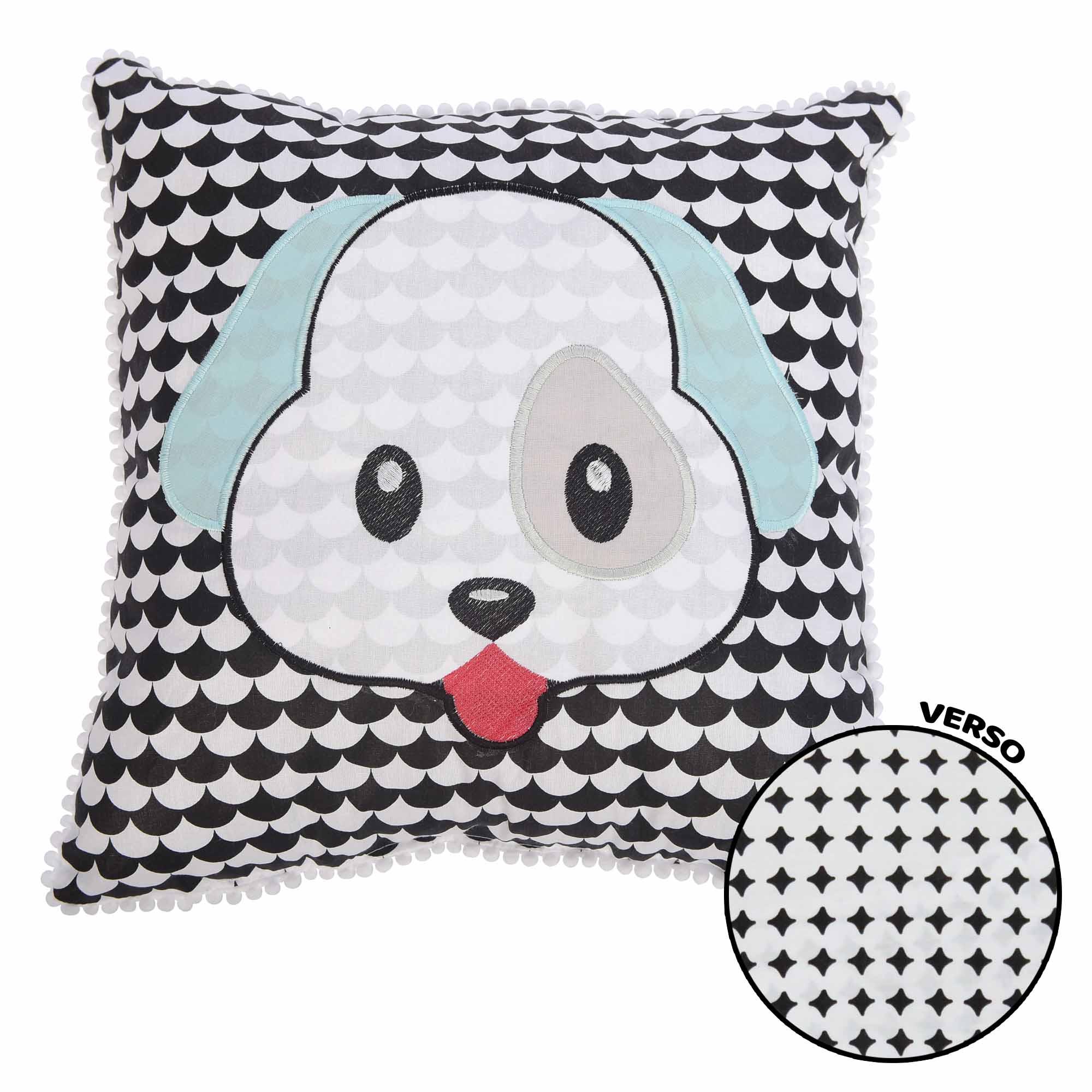 Travesseiro Bordado Cachorro  - Minasrey - Mini Herdeiros