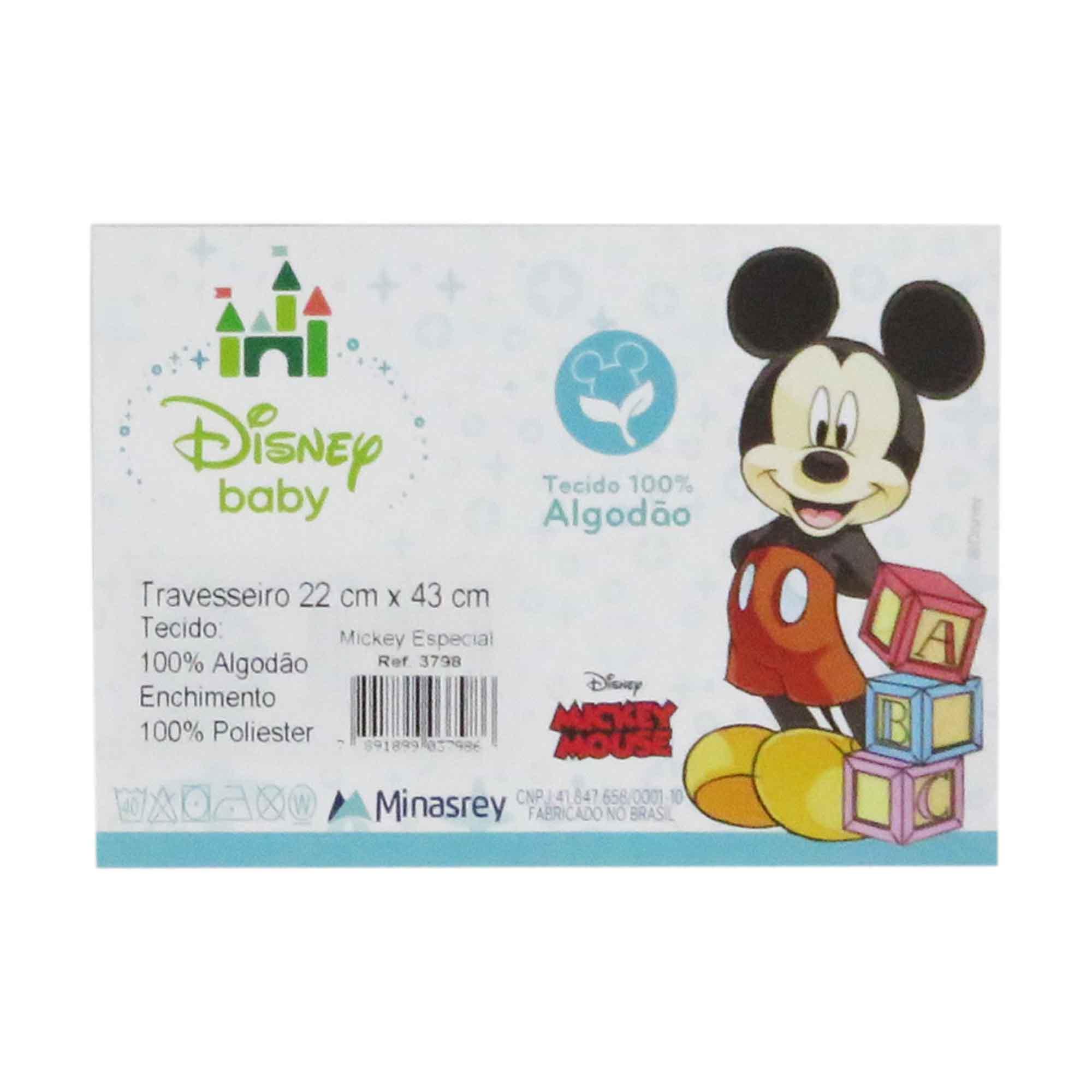 Travesseiro Minasrey Disney Retangular Especial - Mickey