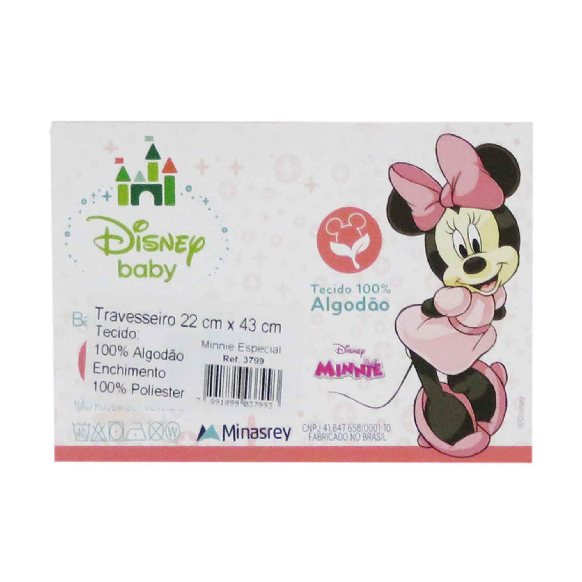 Travesseiro Minasrey Disney Retangular Especial - Minnie