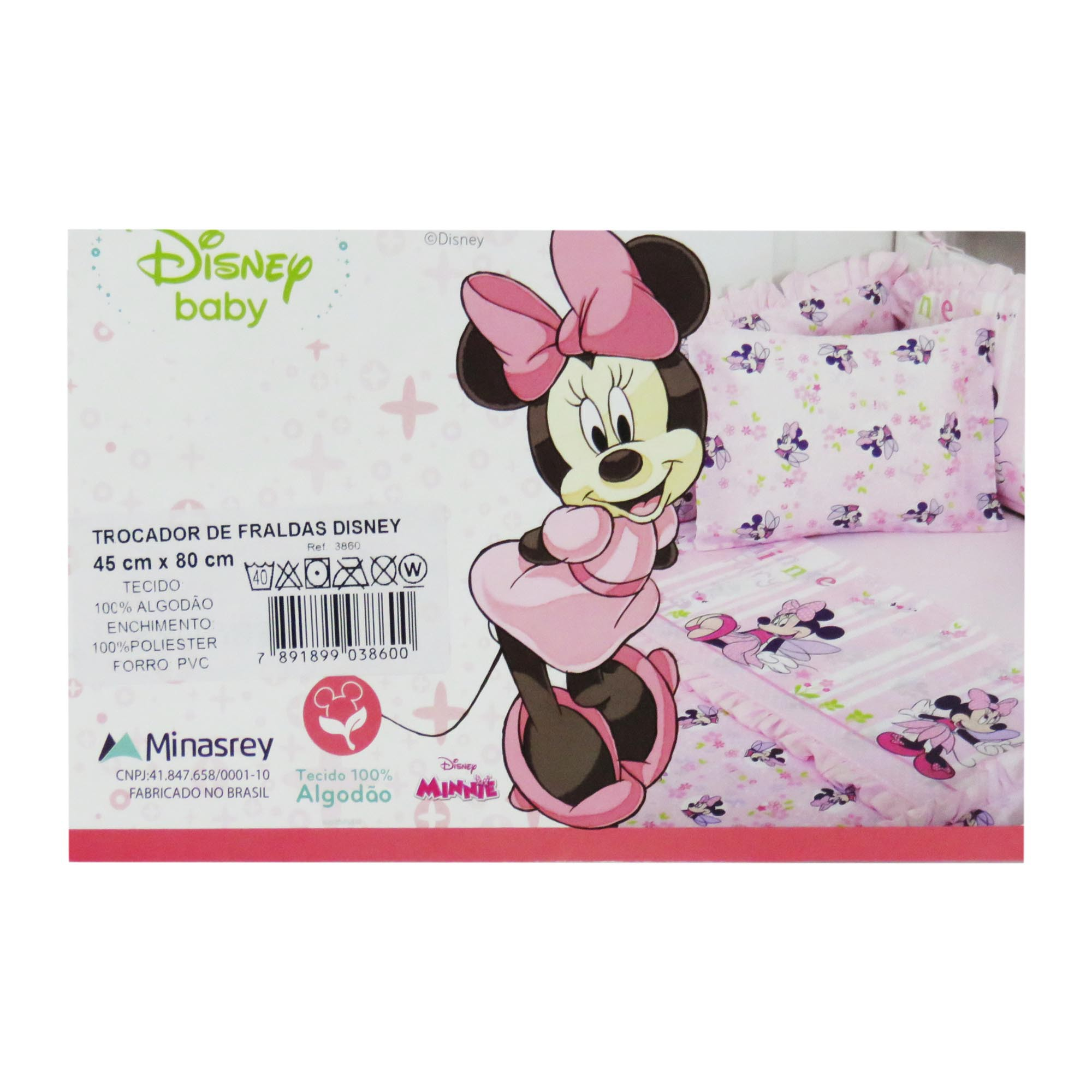 Trocador de Fraldas - Minasrey - Disney Baby - Rosa