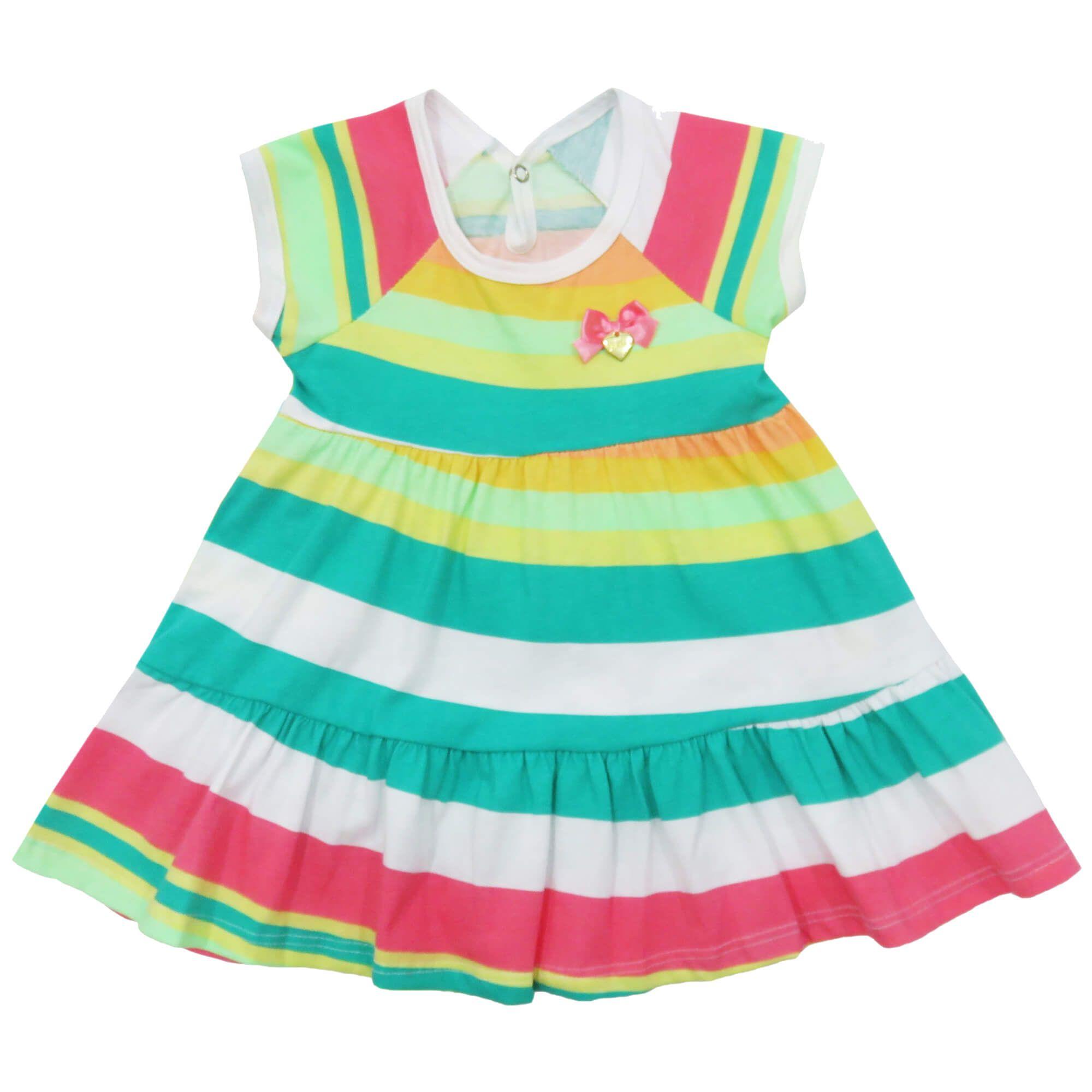 Vestido Verão Alenice Aplique Laço - 01 ao 03