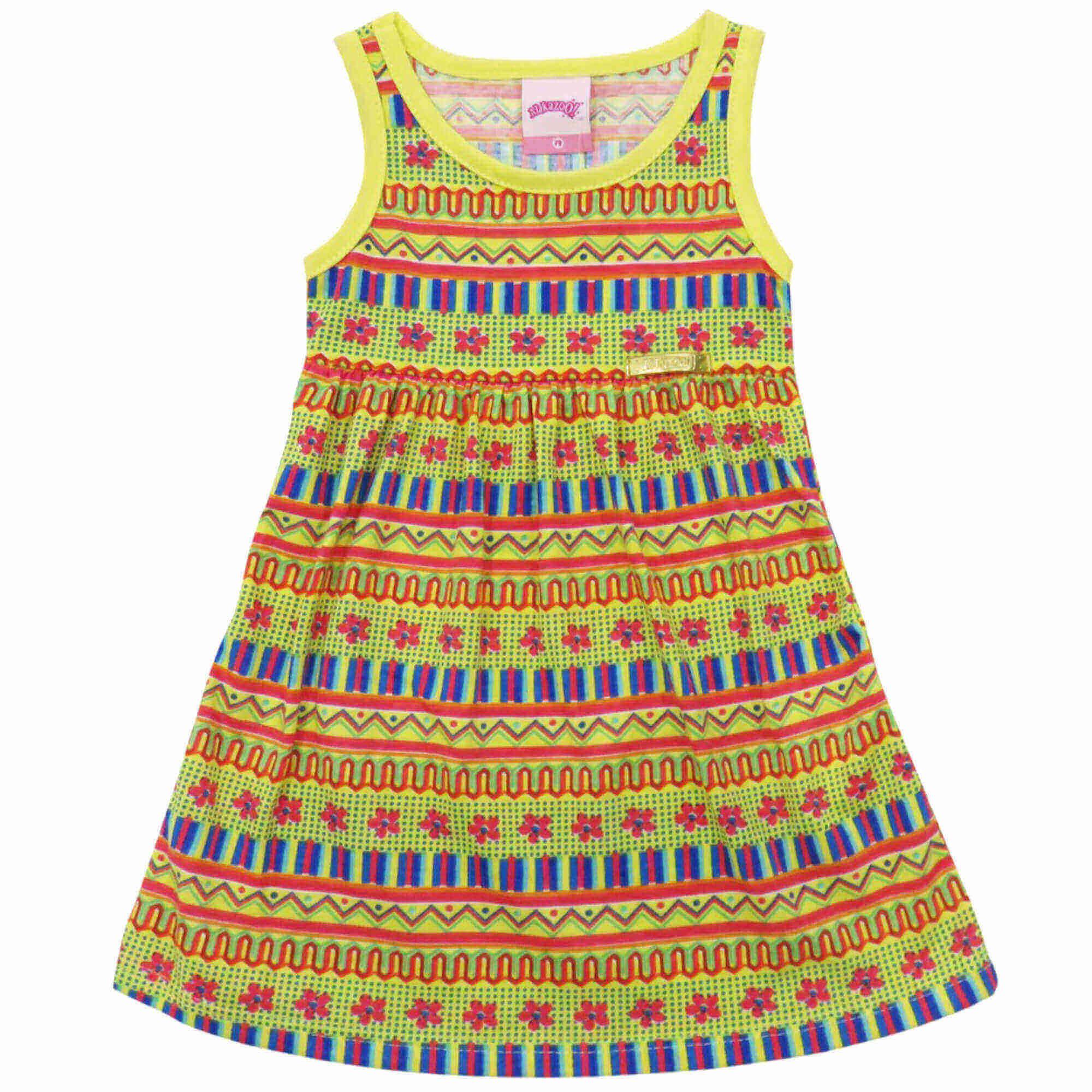 Vestido Verão Alakazoo Meia Malha - 01 ao 03