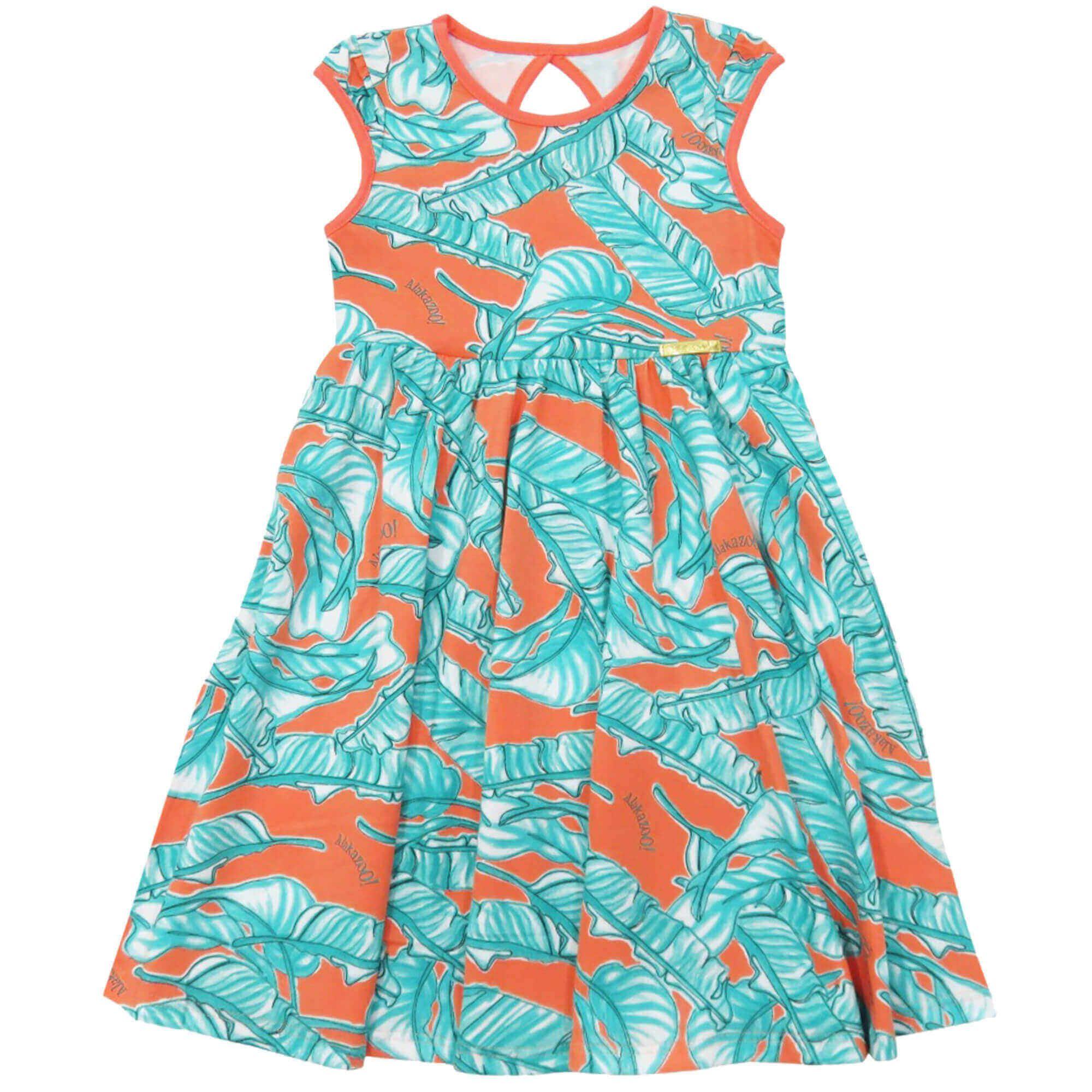 Vestido Verão Alakazoo Saia Evasê - 4 ao 10