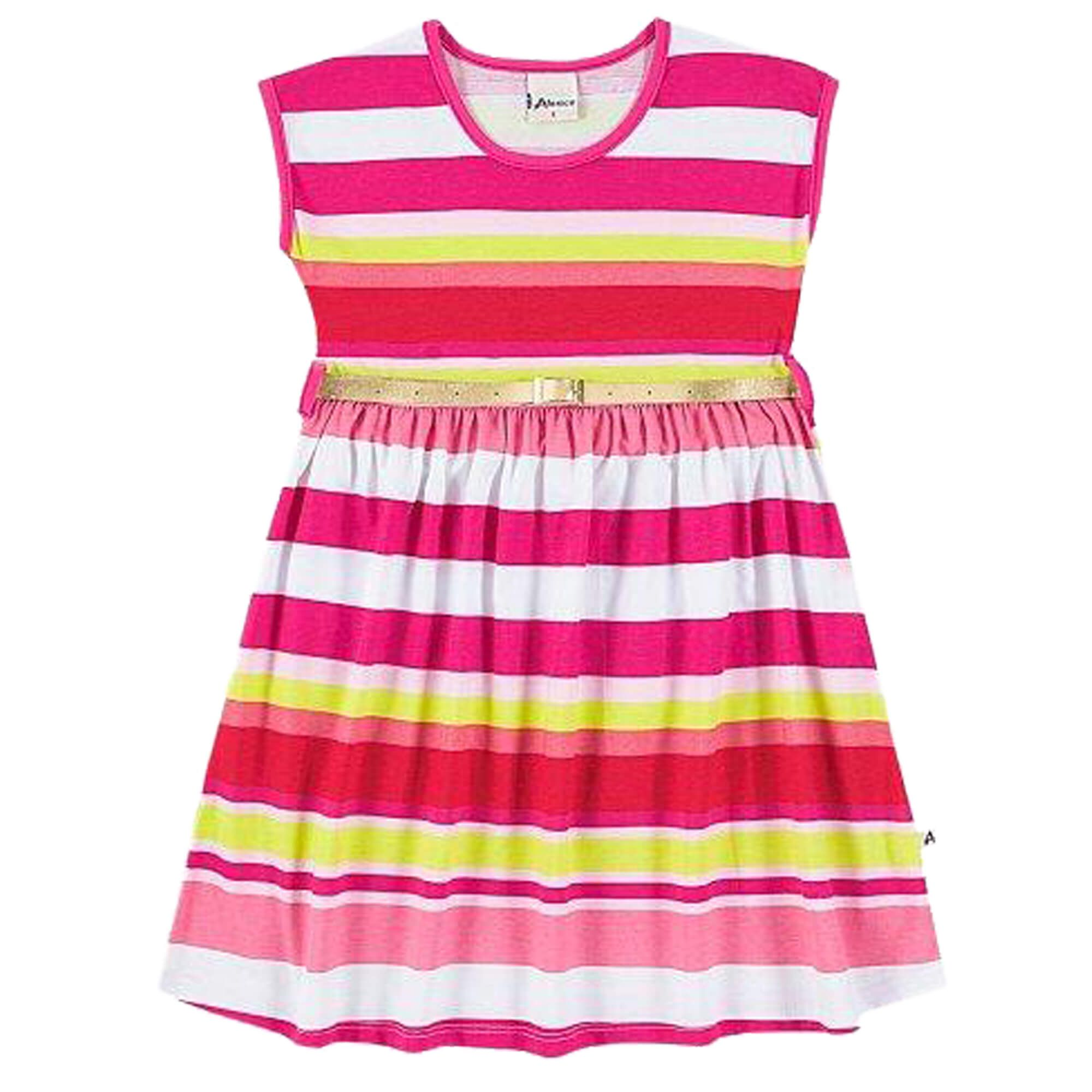 Vestido Verão Alenice Estampado com Cinto - 10 ao 14