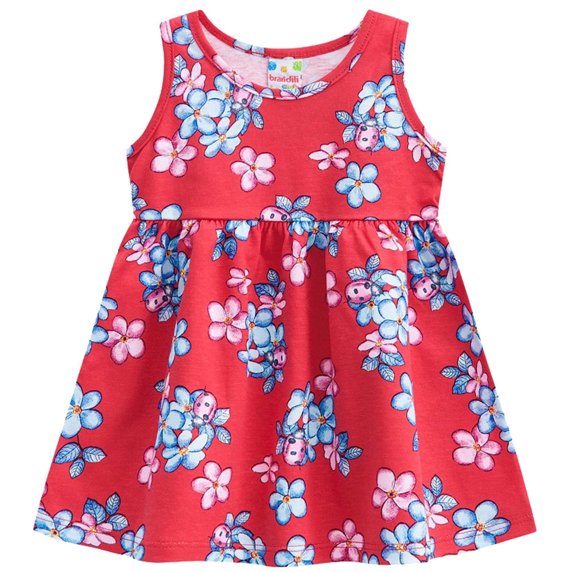 Vestido Verão Brandili Club Estampa Floral - 01 ao 03