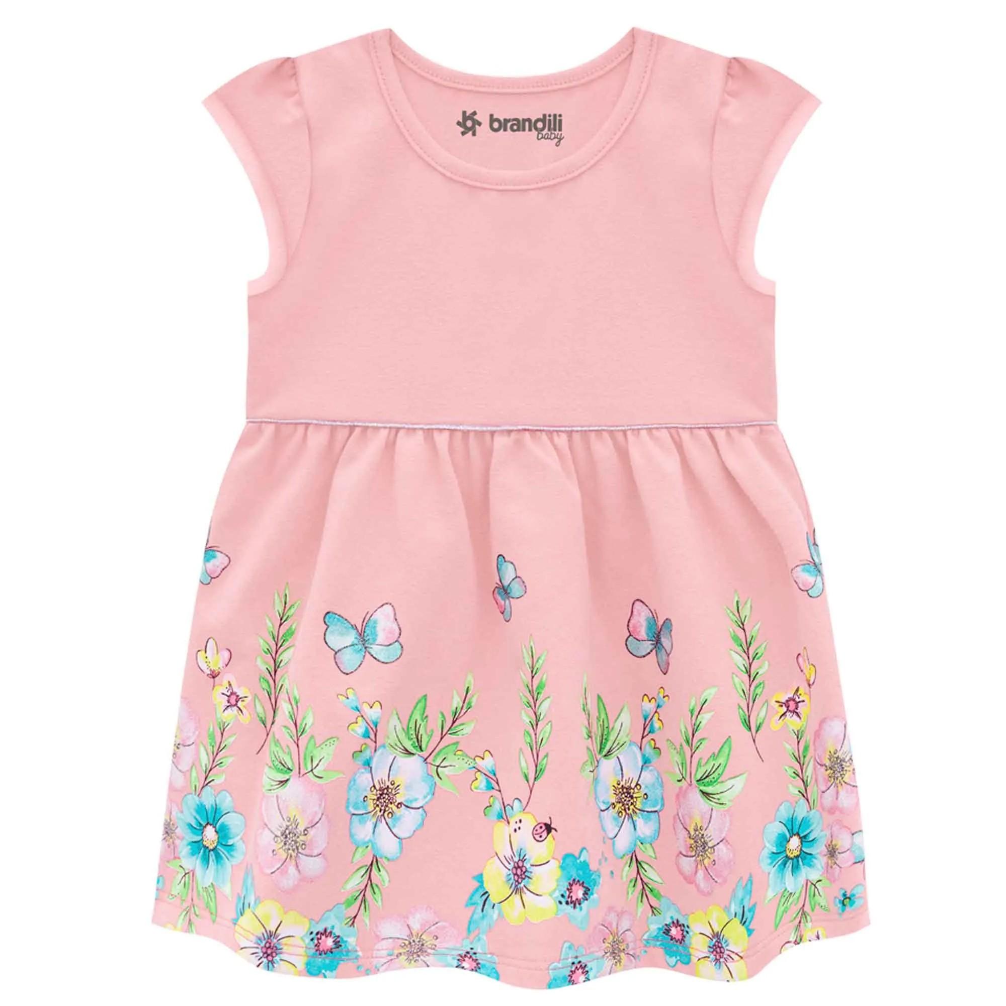 Vestido Verão Brandili Baby Cotton - Flores - P ao G