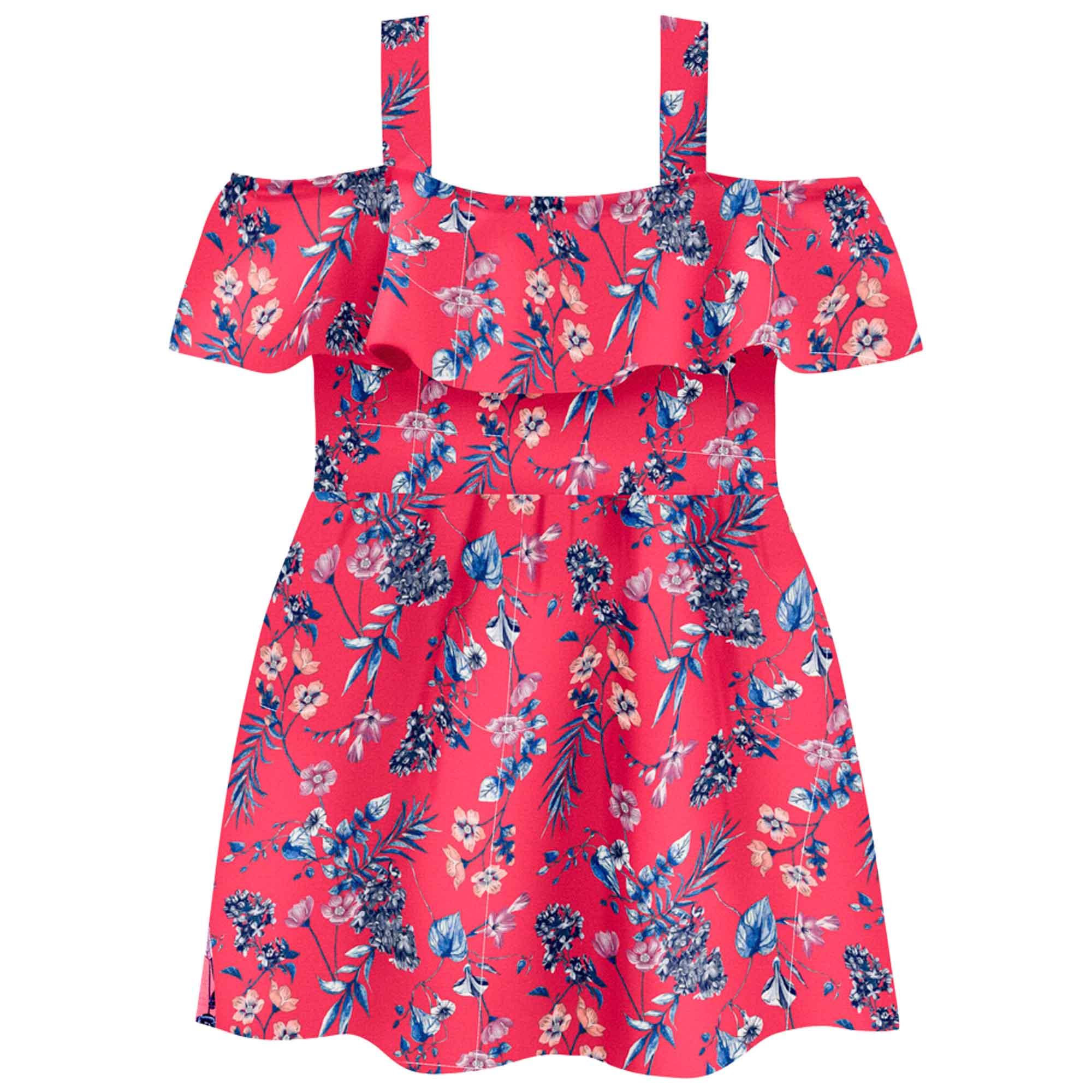 Vestido Verão Brandili Florido - 4 ao 10