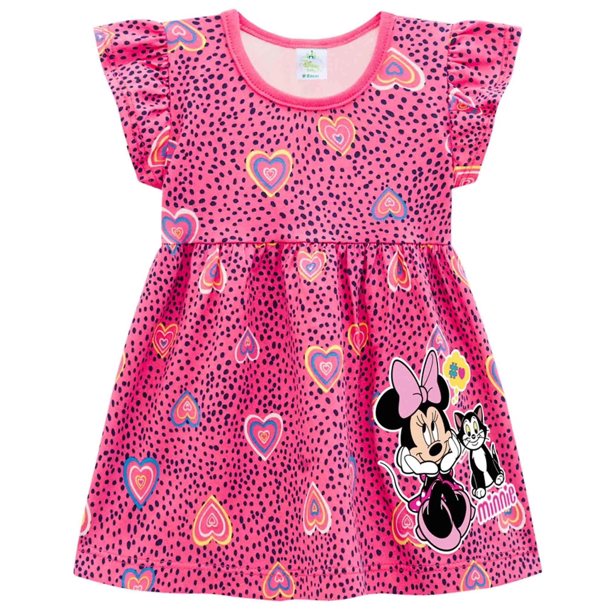 Vestido Verão Brandili Baby Minnie - P ao G