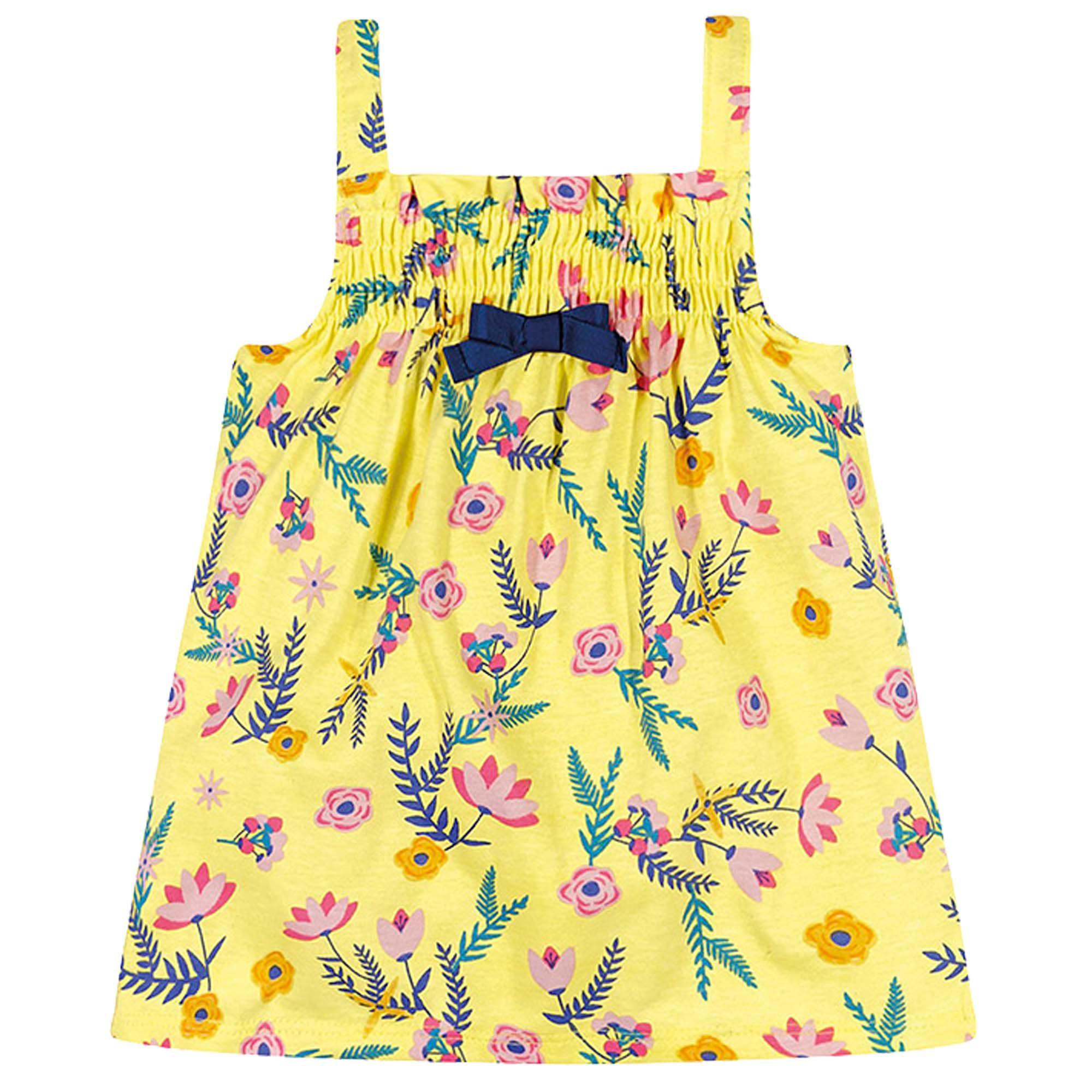 Vestido Verão Brandili Baby Estampa Floral com Laço - P ao G