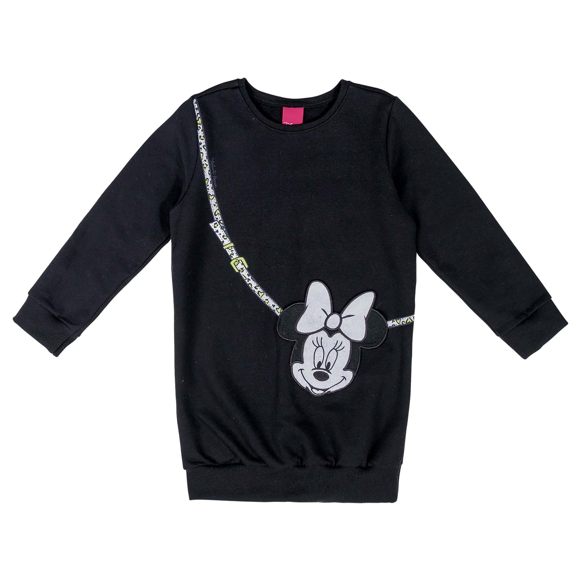Vestido Inverno Cativa Estampa Bolsa Minnie - 4 ao 10