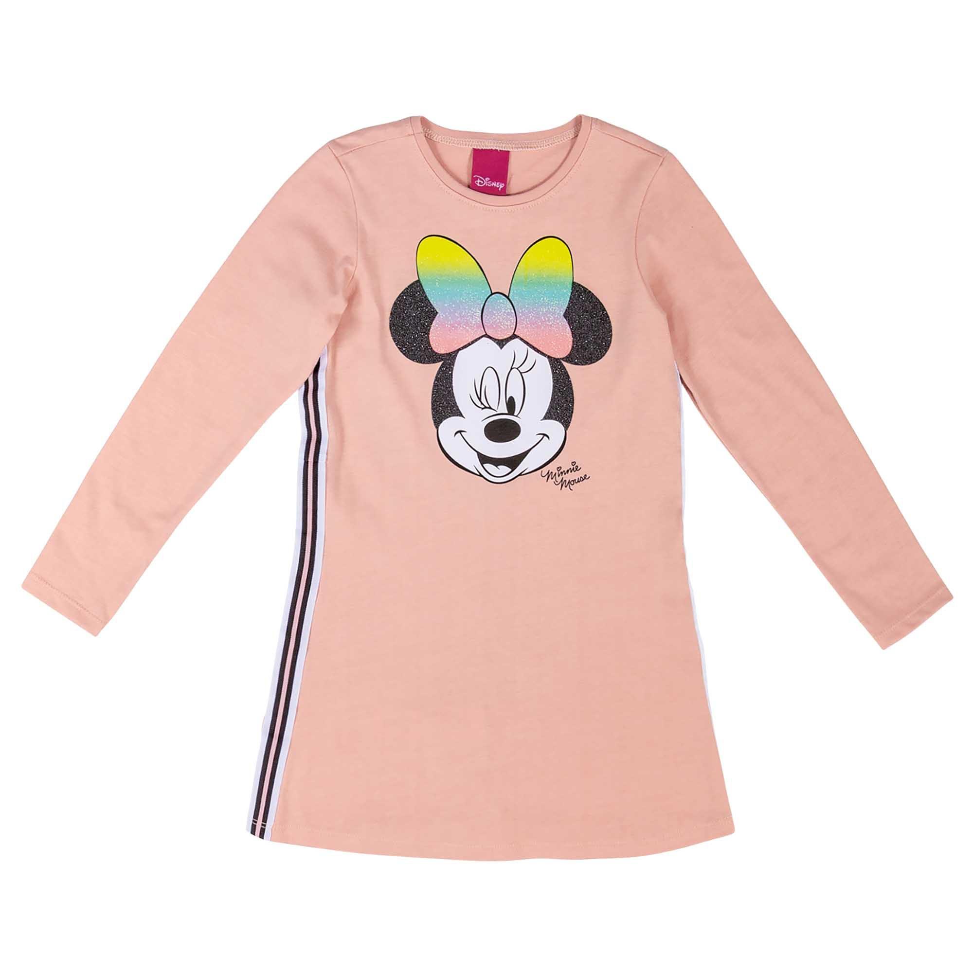 Vestido Cativa Estampa Minnie Piscando com Faixa Lateral - 4 ao 10