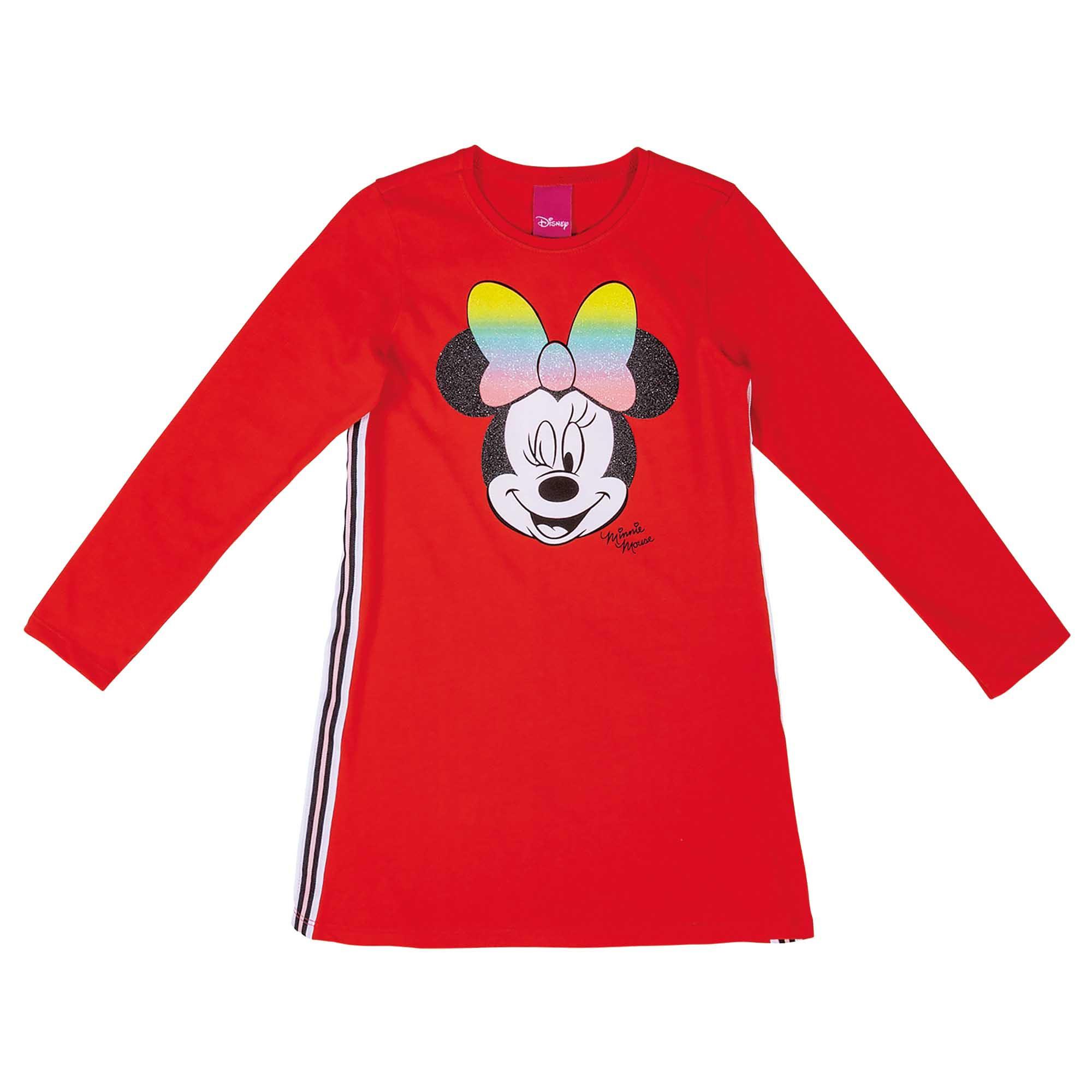 Vestido Inverno Cativa Estampa Minnie Piscando com Faixa Lateral - 4 ao 10