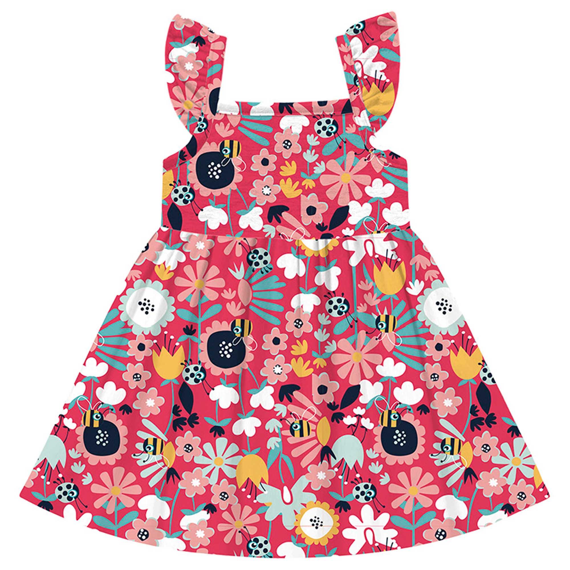 Vestido Verão Kiko e Kika - Florido - 1 ao 3