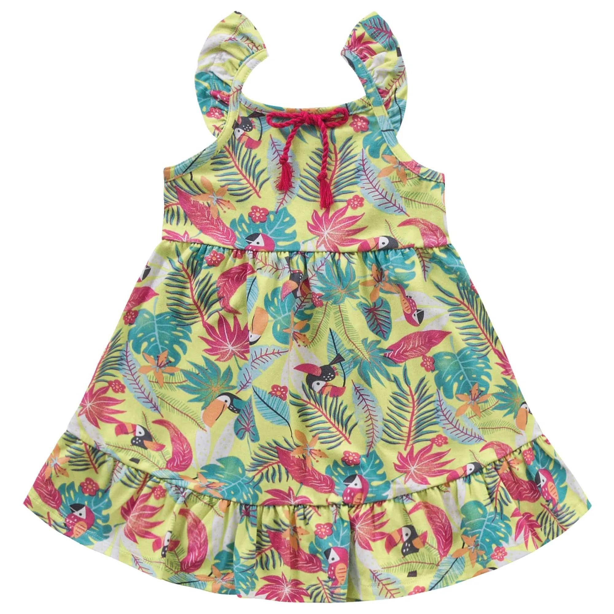 Vestido Verão Kiko e Kika Tropical - 1 ao 3