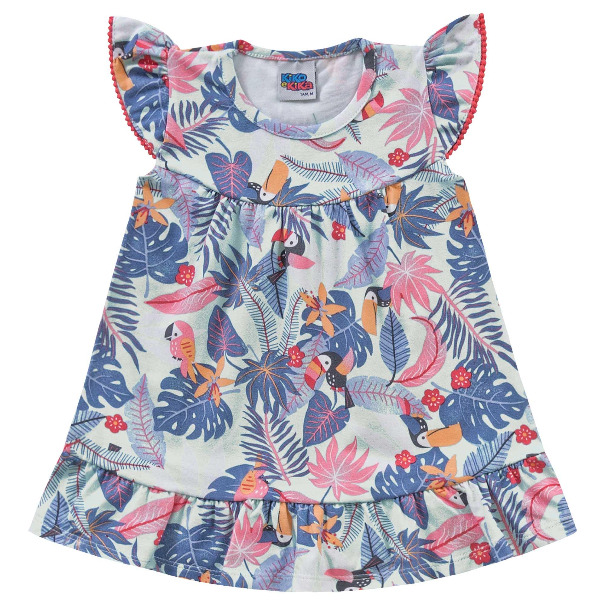 Vestido Verão Kiko e Kika Tropical - P ao G