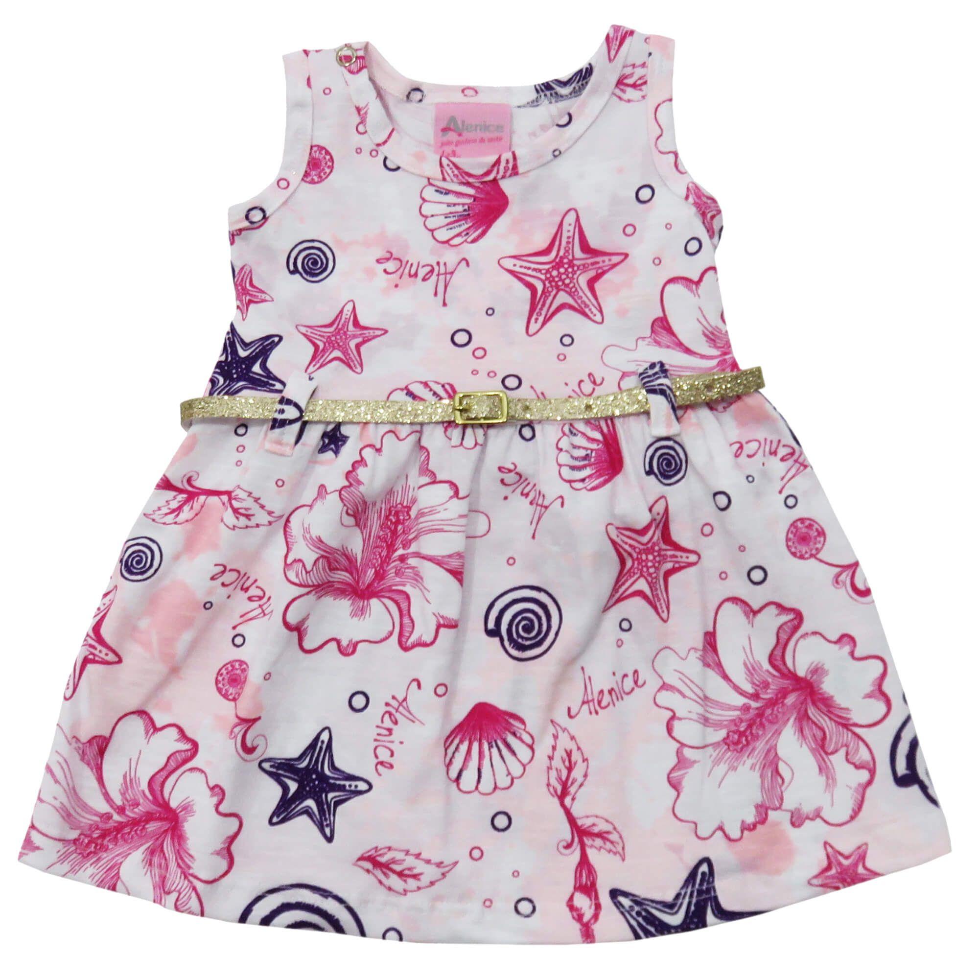 Vestido Verão Alenice Estampado com Cinto - P ao G