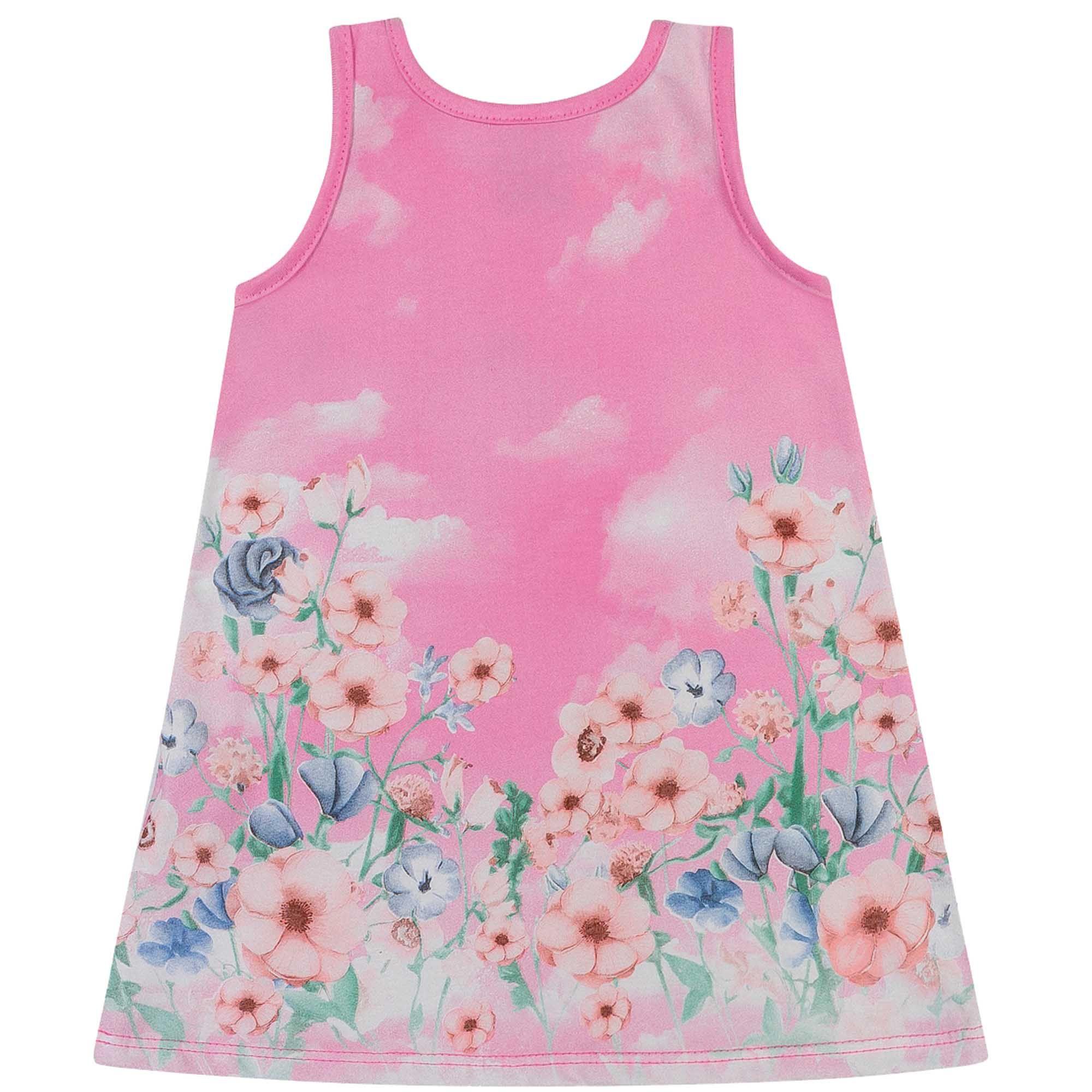 Vestido Verão Romitex Kely Kety Gato no Jardim - 1 ao 2
