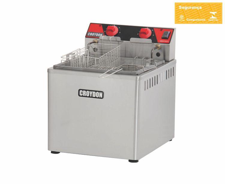 Fritadeira 15 Litros Mesa Elétrica Zona Fria 8000w FZM8 - Croydon