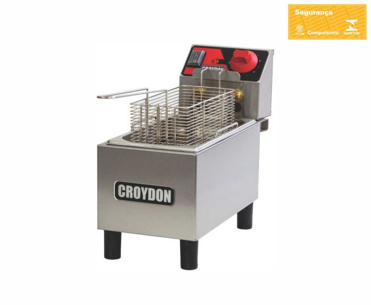 Fritadeira Elétrica 1 Cuba 3 Litros FC1A - Croydon