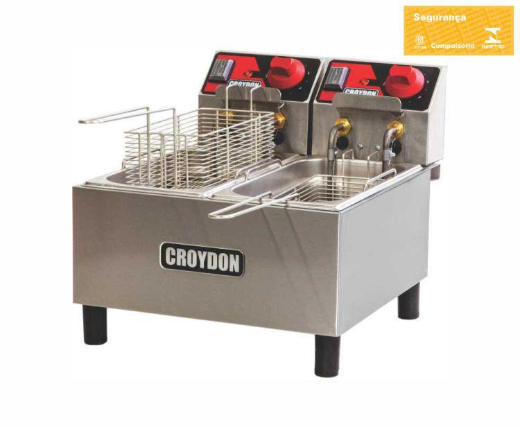 Fritadeira Elétrica 2 Cubas 3 Litros FC2A - Croydon