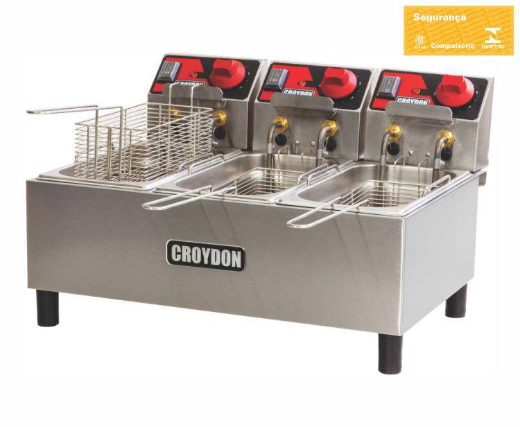 Fritadeira Elétrica 3 Cubas 3 Litros FC3A - Croydon
