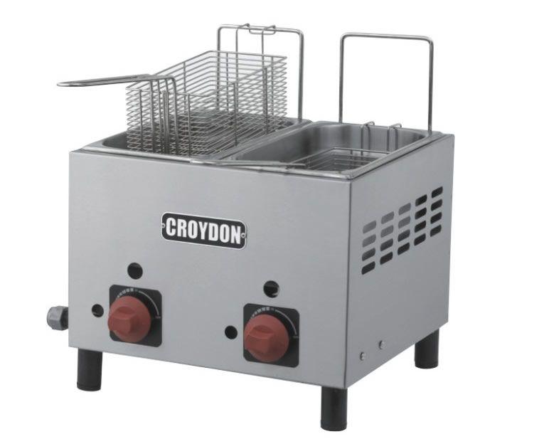 Fritadeira Gás 2 Cubas 3 Litros F2AG - Croydon