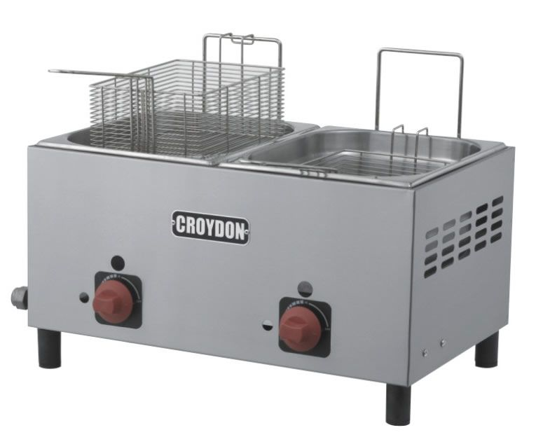 Fritadeira Gás 2 Cubas 4,5 Litros F2BG - Croydon
