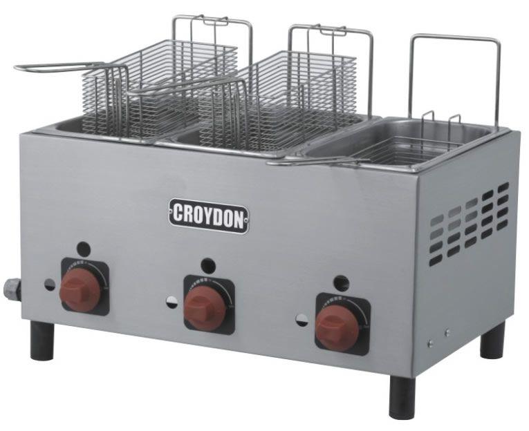 Fritadeira Gás 3 Cubas 3 Litros F3AG - Croydon