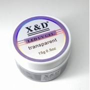 Gel X&D para Construção de Alongamento de Unhas Transparente 15g