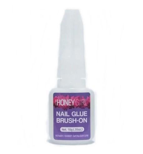 Cola Para Tips e Unhas Postiças Honey Girl c/ Pincel 10gr