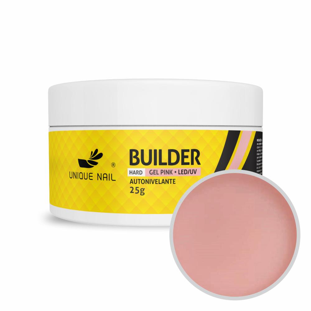 Gel Construtor Hard Builder Pink - Unique Nail - 25g