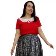 Blusa Vermelha Feminina Sob Medida