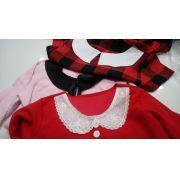 Blusa Xadrez Vermelha Sob Medida