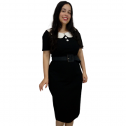Vestido Preto e Branco Sob Medida
