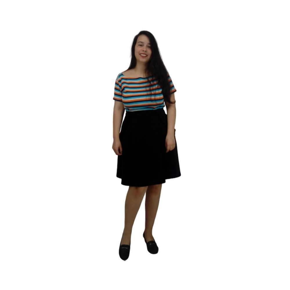 Blusa Listrada Colorida Feminina