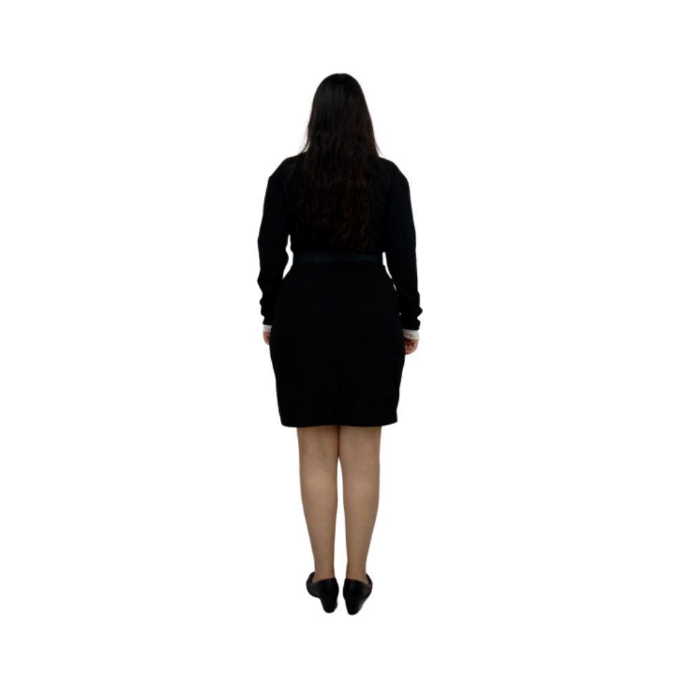 Vestido Sabrina Spellman Manga Longa Preto G