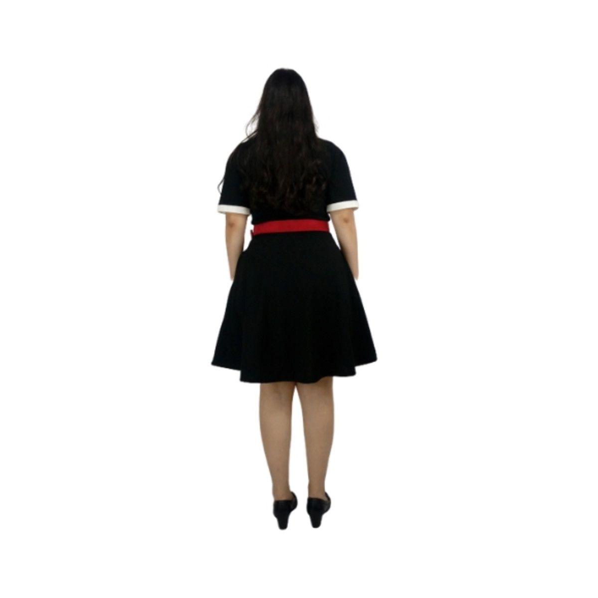 Vestido Vandinha Preto Rodado