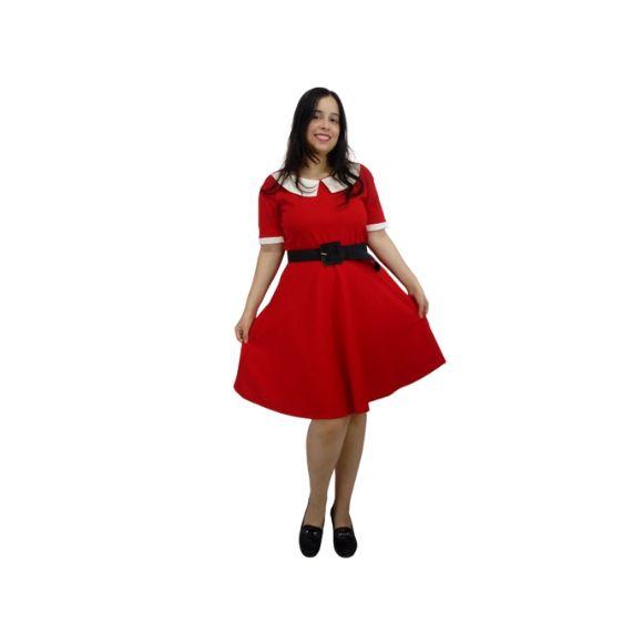 Vestido Vandinha Vermelho Rodado