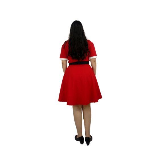Vestido Vermelho e Branco