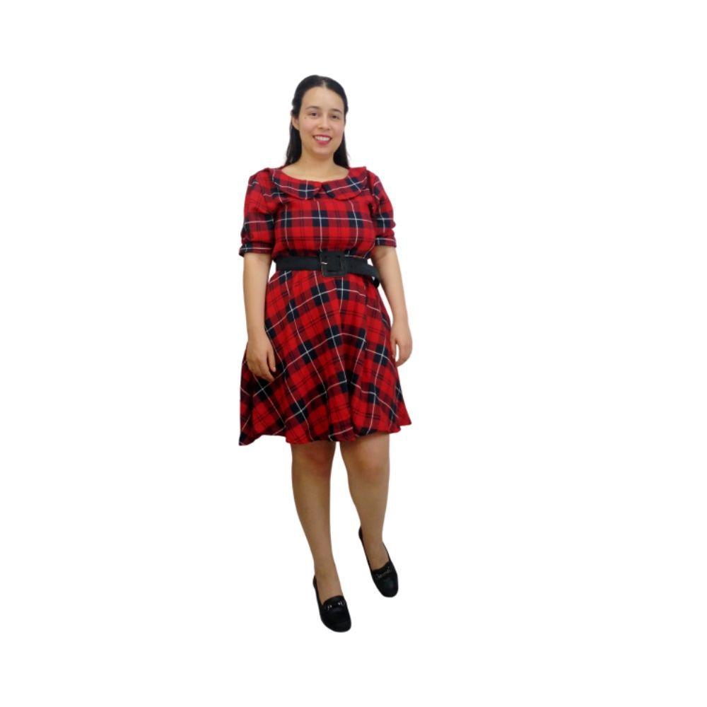 Vestido Xadrez Vermelho