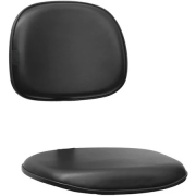 Assento e encosto kit Secretária - Material sintético Preto