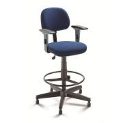 Cadeira Caixa Executiva  Alta Giratória fixa regulável com Braços e apoio para pés