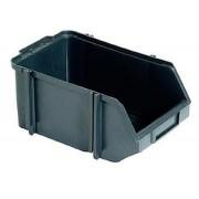 Caixa Organizadora Gaveteiro Plástico Bin nº 8 Pacote 12 unidades Preta