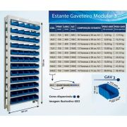Estante caixa box organizadora para gavetas bin nº 3  ( 25 a 240 Gavetas )