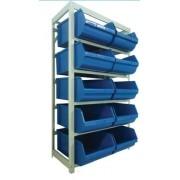 Estante caixa box organizadora para gavetas bin nº 9  ( 10 Gavetas )