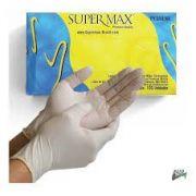 Luva de Procedimento Não Cirúrgico Latex - Caixa com 100 Unid - Supermax - Tam M