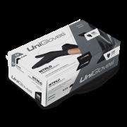 Luva para procedimento não cirúrgico sem pó Borracha Sintética UniGloves Premium Quality Black - Preta M